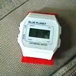 百均腕時計にマジックテープ